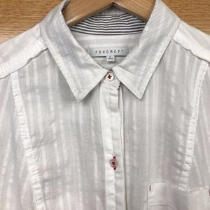 White Long-sleeved Button Down